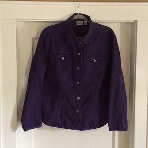 Chico's purple denim jacket. Size 3 (xlarge)